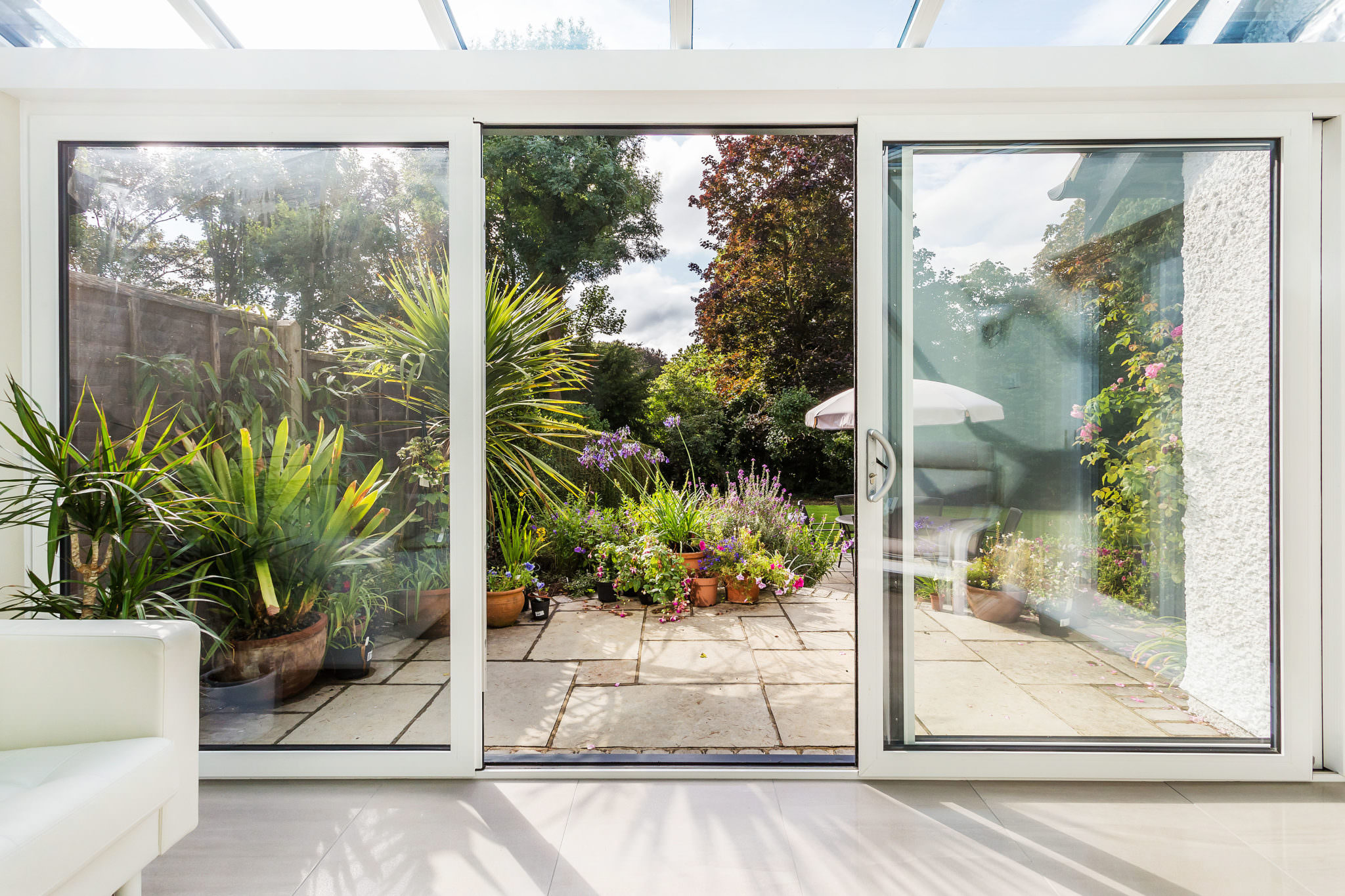 Stand Alone Conservatory Designs : Lean to conservatory purley glass box extension small conservatory