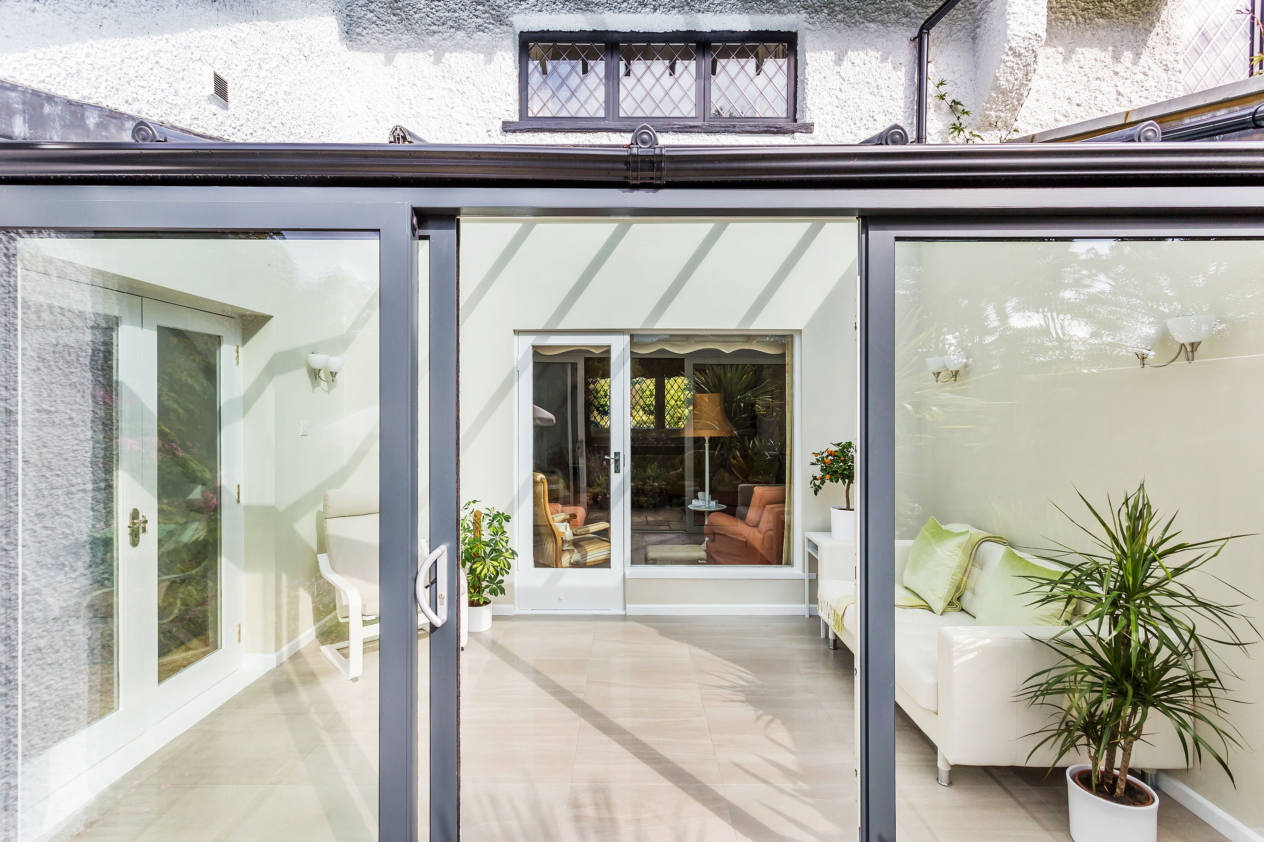 glass box lean-to conservatory purley